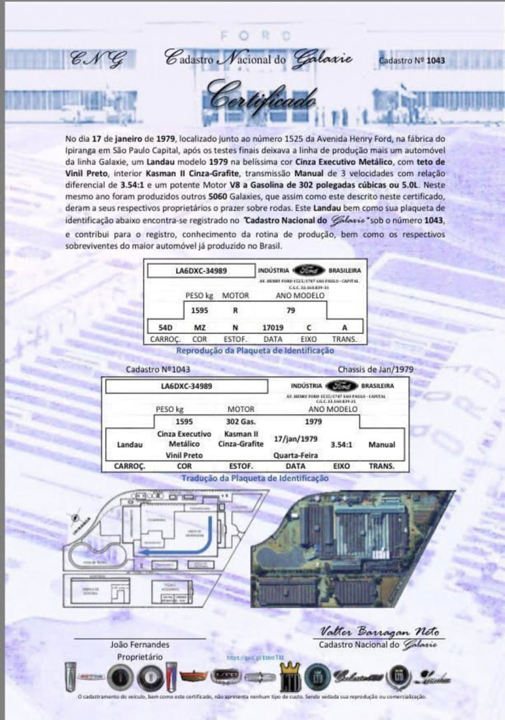 Imagem do veículo FORD GALAXIE LANDAU V8 5.0 MEC./1979