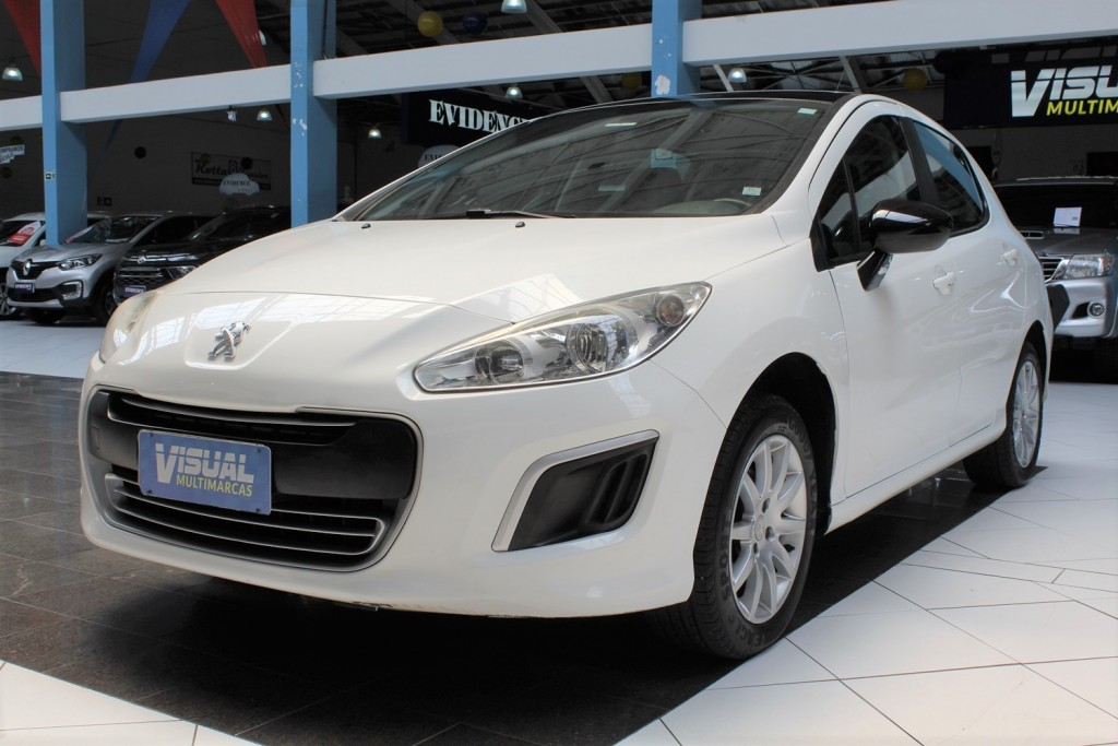 PEUGEOT 308 ACTIVE 1.6  FLEX 4P MANUAL - BRANCO - 2013