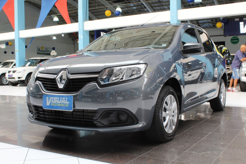 RENAULT LOGAN EXPRESSION 1.0 FLEX 4P MANUAL - 2017 - CINZA