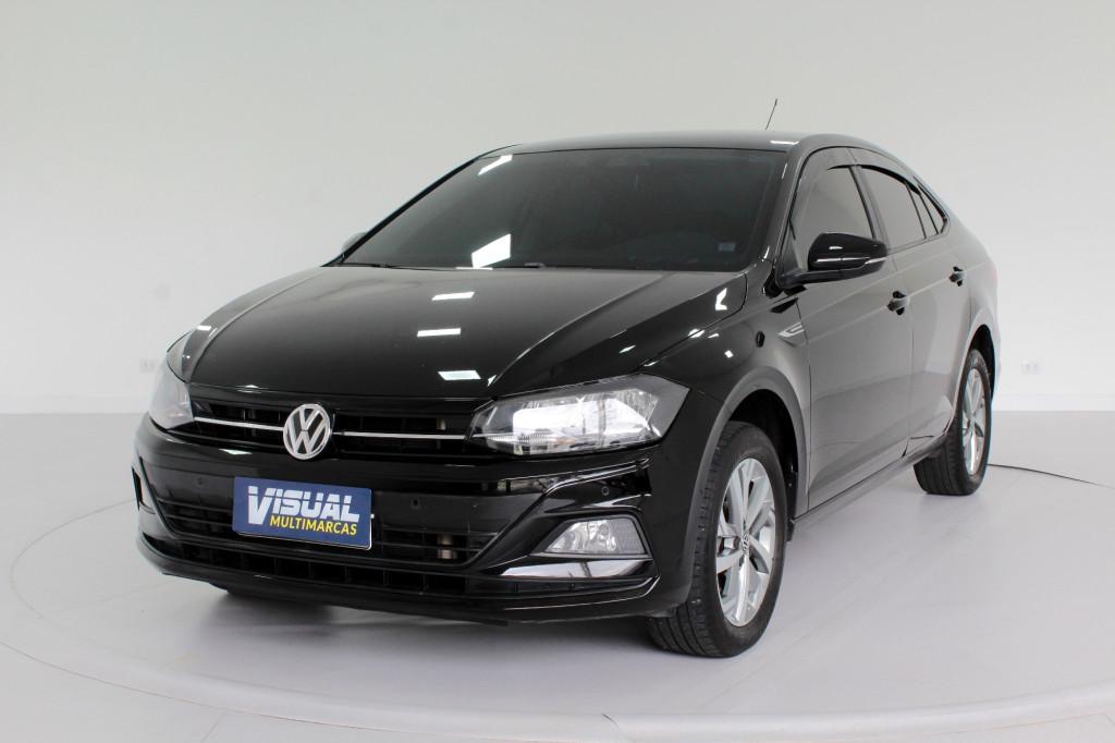 VOLKSWAGEN VIRTUS COMFORTLINE 1.0 200 TSI  AUTOMÁTICO 6M - 2019 - PRETO