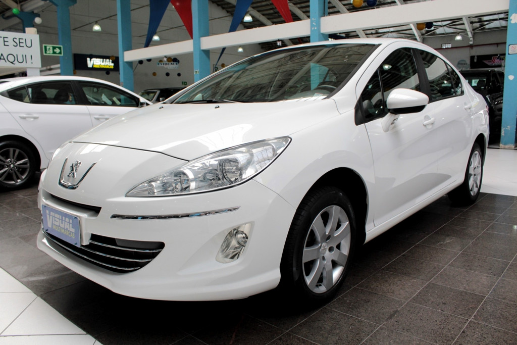 PEUGEOT 408 2.0 ALLURE FLEX 4P MANUAL - 2013 - BRANCO