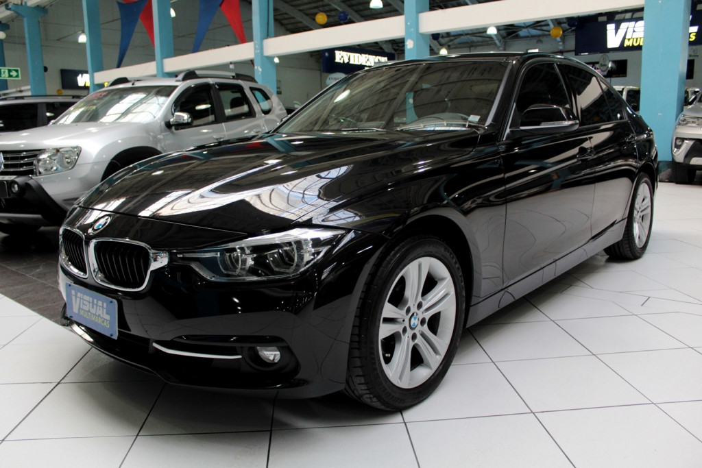 BMW 320i 2.0 TURBO ACTIVE FLEX 4P AUTOMÁTICO 8M - 2016 - PRETO