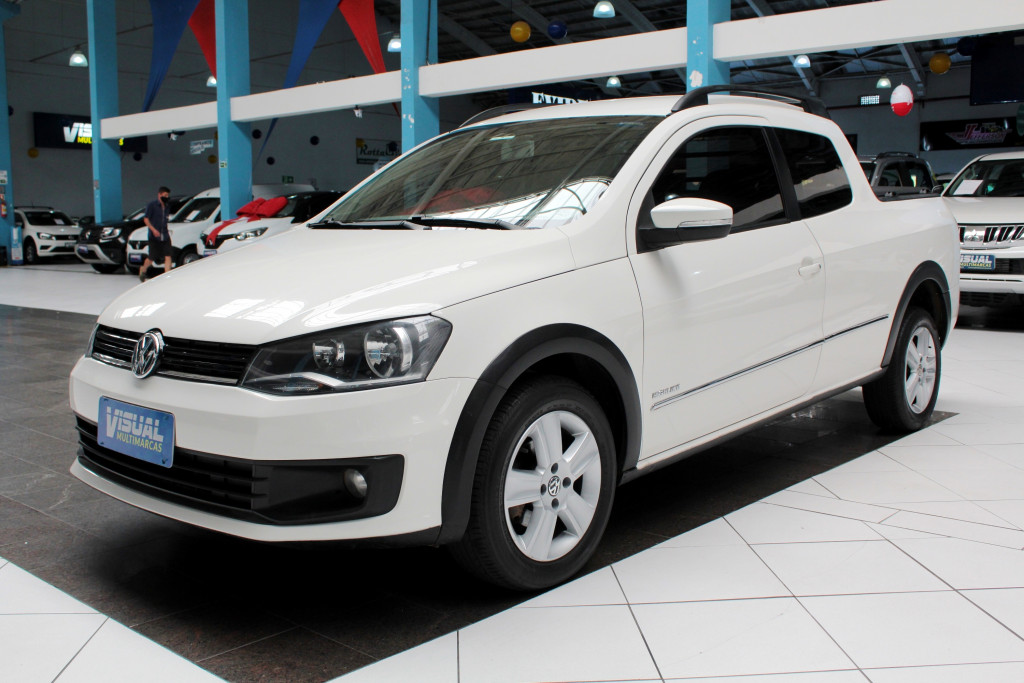VOLKSWAGEN SAVEIRO 1.6 HIGHLINE CD FLEX 2P MANUAL - 2015 - BRANCO