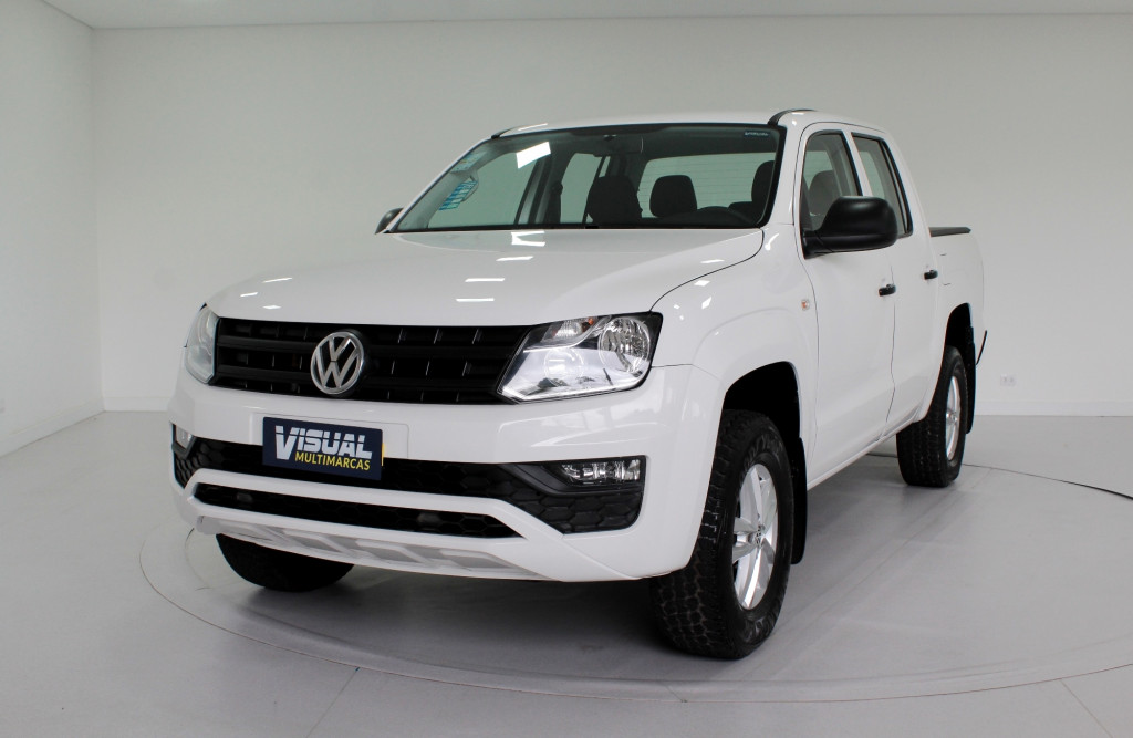 VOLKSWAGEN AMAROK 2.0 S 4X4 CD TURBO DIESEL 4P MANUAL 6M - 2018 - BRANCO