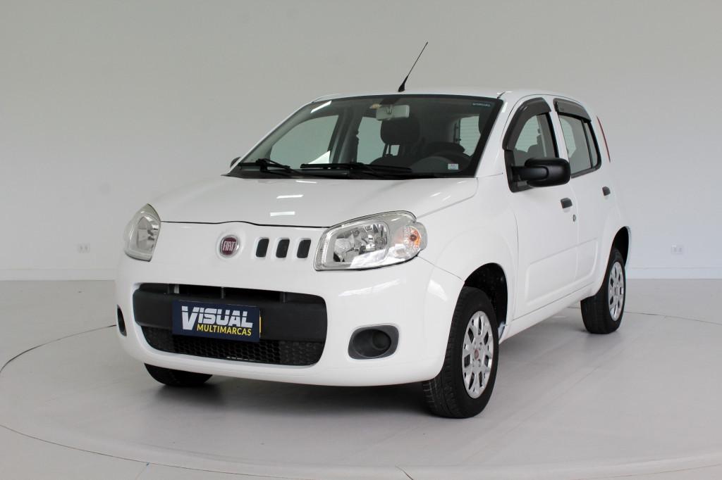 FIAT UNO 1.0 VIVACE FLEX 4P MANUAL - 2014 - BRANCO