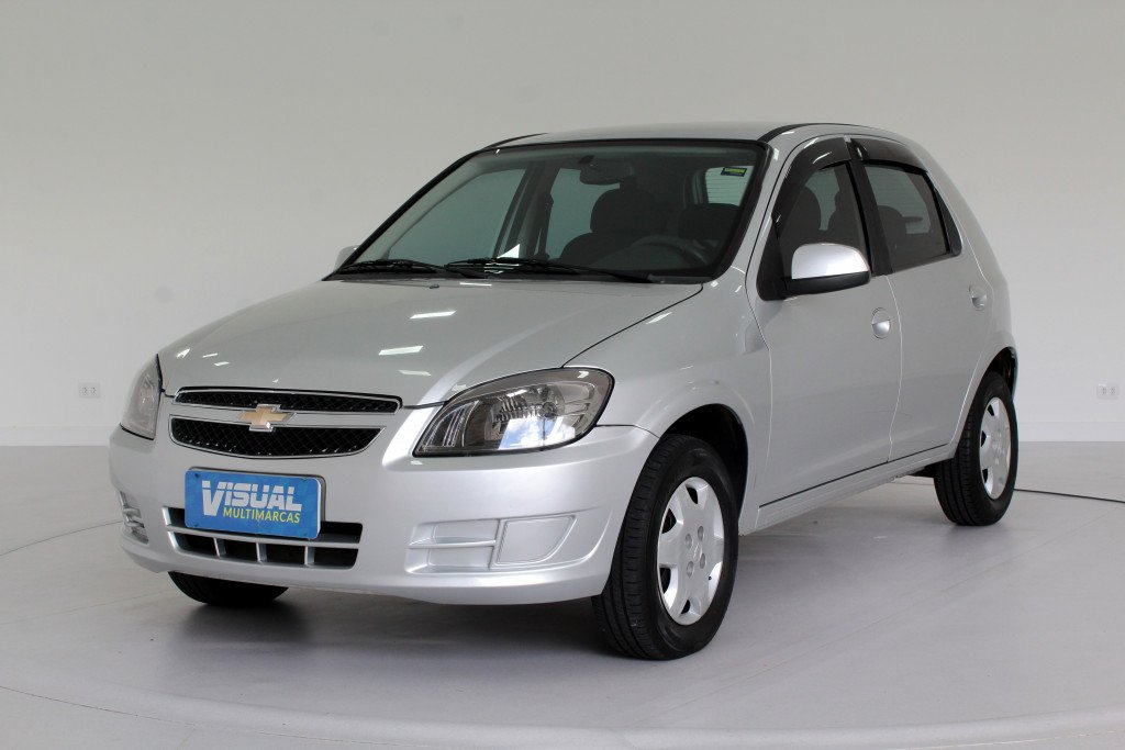 CHEVROLET CELTA 1.0 LT FLEX 4P MANUAL - 2015 - PRATA