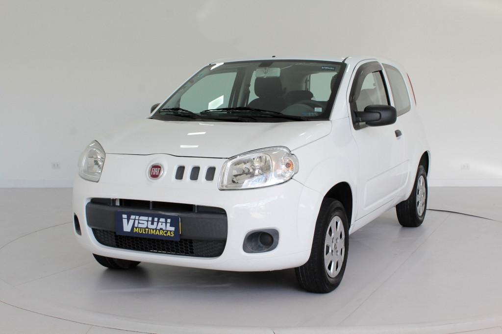 FIAT UNO 1.0 VIVACE FLEX 2P MANUAL - 2014 - BRANCO