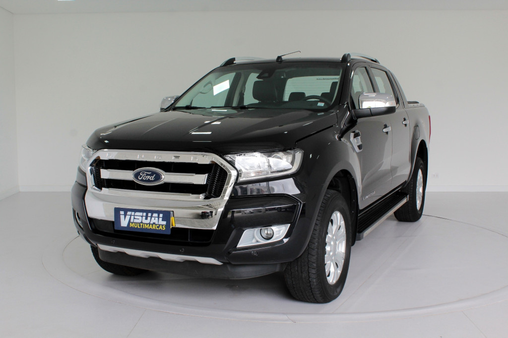 FORD RANGER 3.2 LIMITED 4X4 CD TURBO DIESEL 4P AUTOMÁTICO 6M - 2019 - PRETO