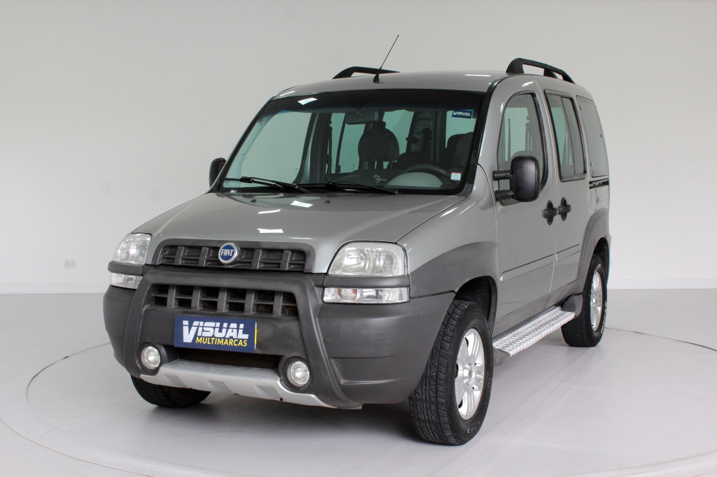 FIAT DOBLÒ 1.8 ADVENTURE 6L FLEX 4P MANUAL - 2008 - CINZA