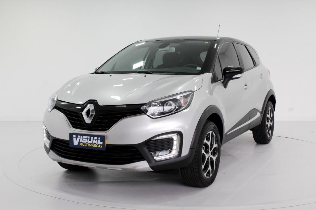 RENAULT CAPTUR 1.6 INTENSE FLEX 4P AUTOMÁTICO CVT 6M - 2019 - PRATA