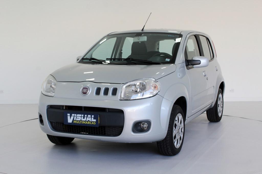 FIAT UNO 1.0 VIVACE FLEX 4P MANUAL - 2012 - PRATA