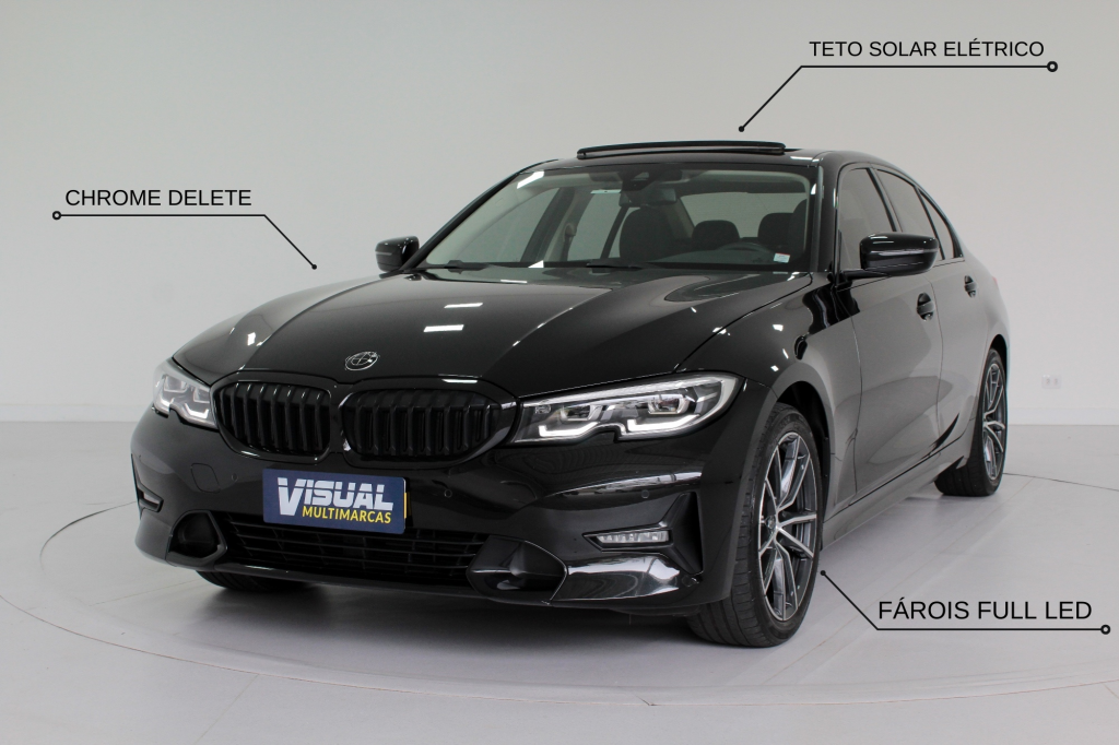BMW 320i 2.0 TURBO SPORT GP 4P AUTOMÁTICO 8M - 2020 - PRETO