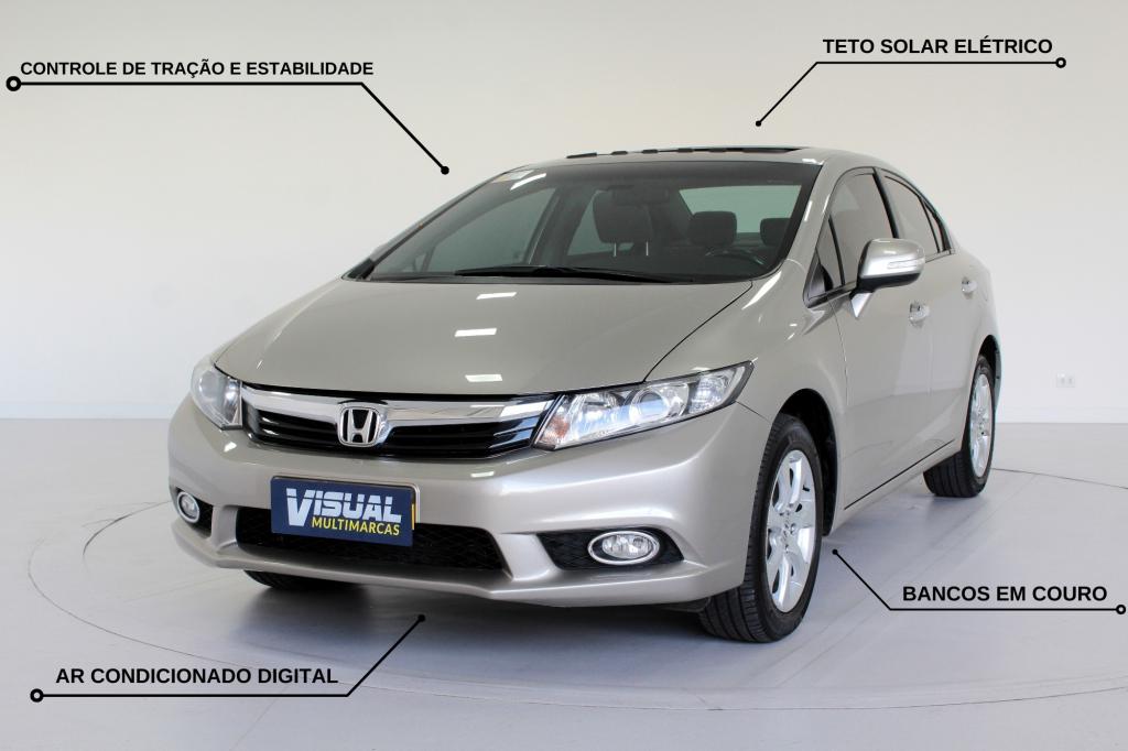 HONDA CIVIC 1.8 EXS FLEX 4P AUTOMÁTICO 5M - 2012 - DOURADO