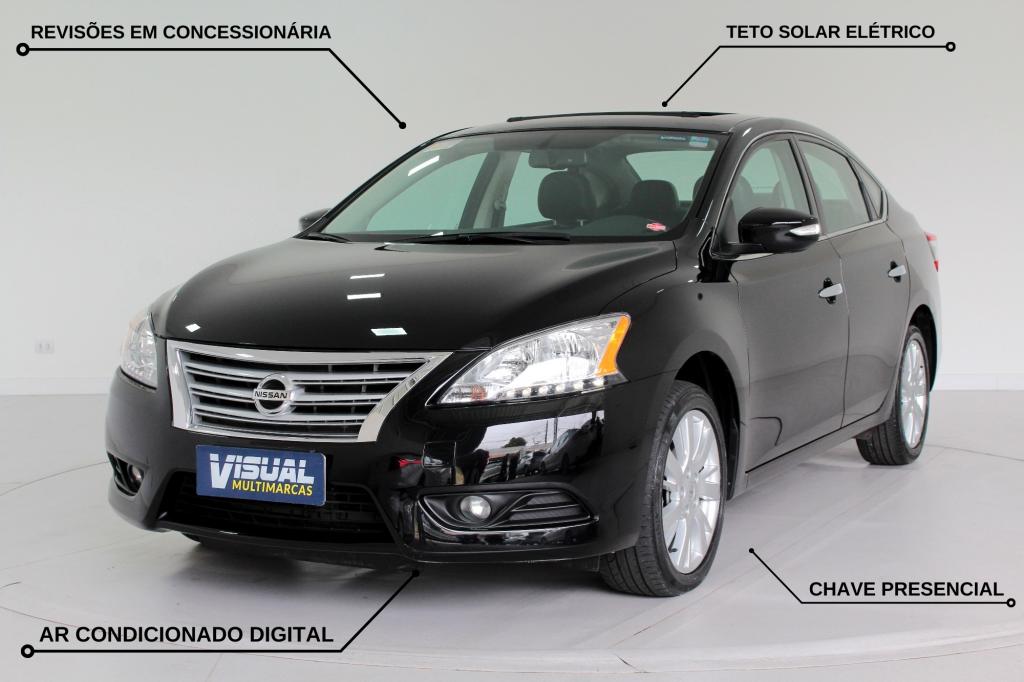 NISSAN SENTRA 2.0 SL FLEX  AUTOMÁTICO CVT - 2014 - PRETO