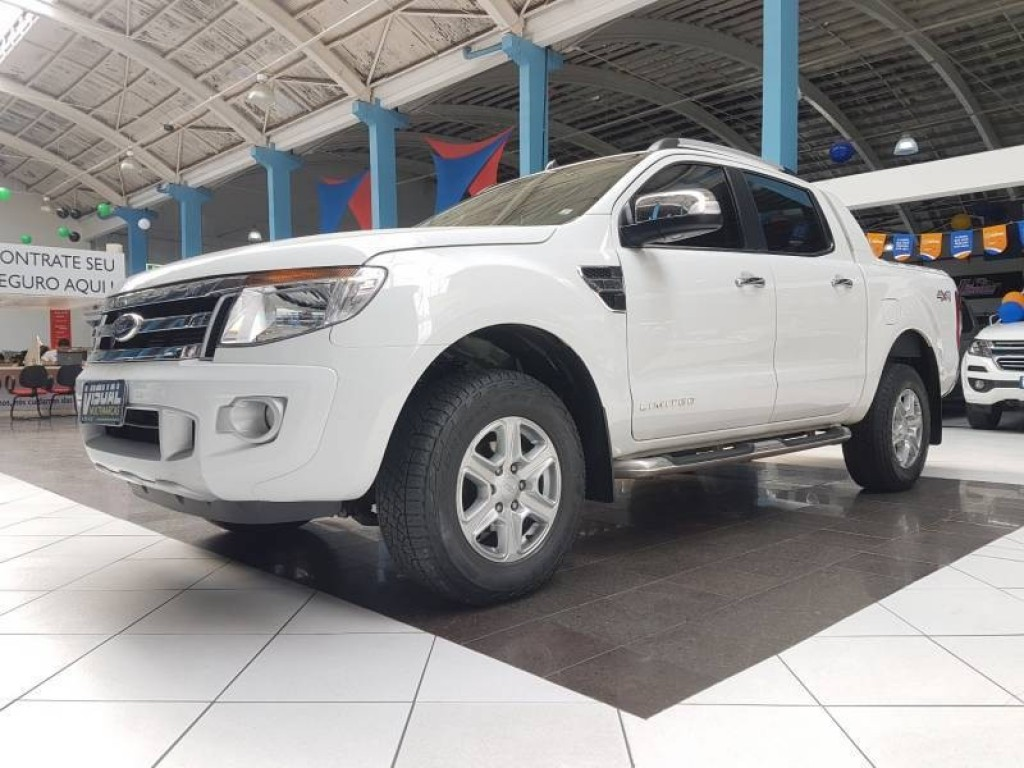 FORD RANGER LIMITED CD 3.2 4X4 DIESEL 4P AUTOMÁTICO 6M - 2016 - BRANCO