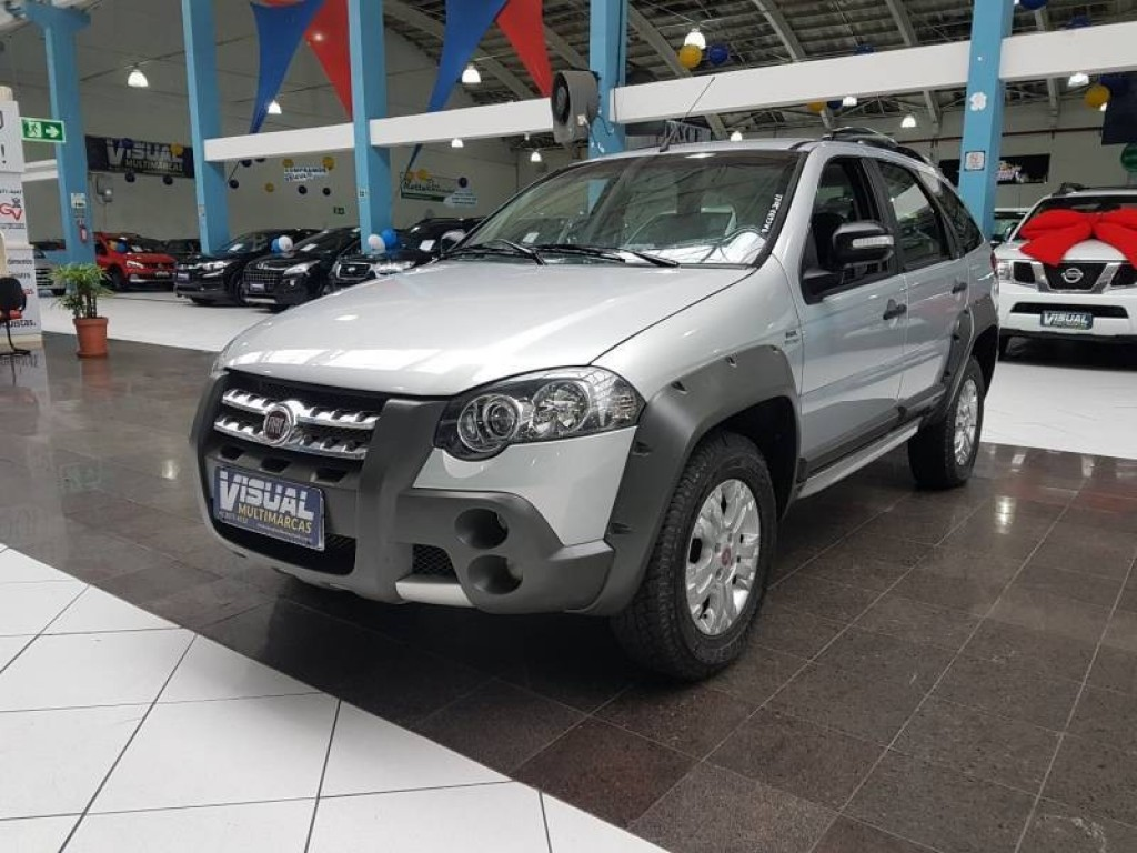 FIAT PALIO WEEKEND ADVENTURE 1.8 FLEX 4P AUTOMATIZADO 5M - 2011 - PRATA