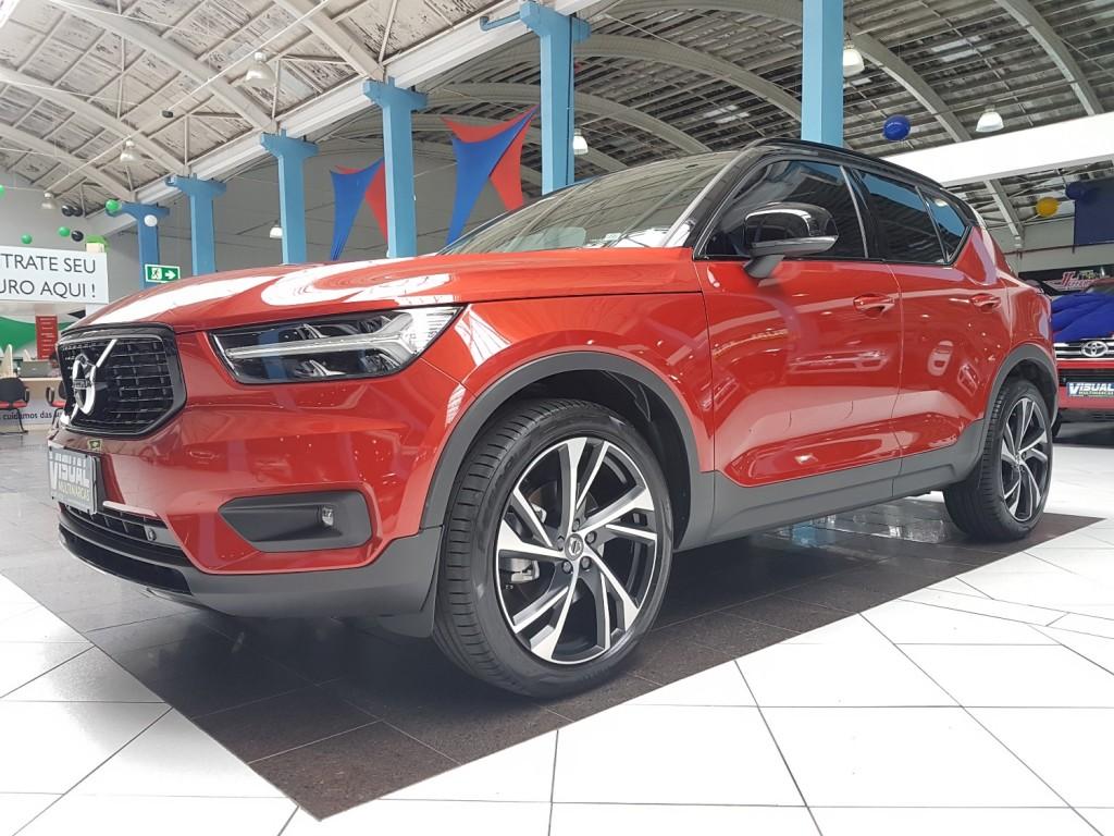 VOLVO XC40 T5 R-DESIGN 2.0 TURBO AWD GASOLINA 4P AUTOMÁTICO 8M - 2019 - VERMELHO
