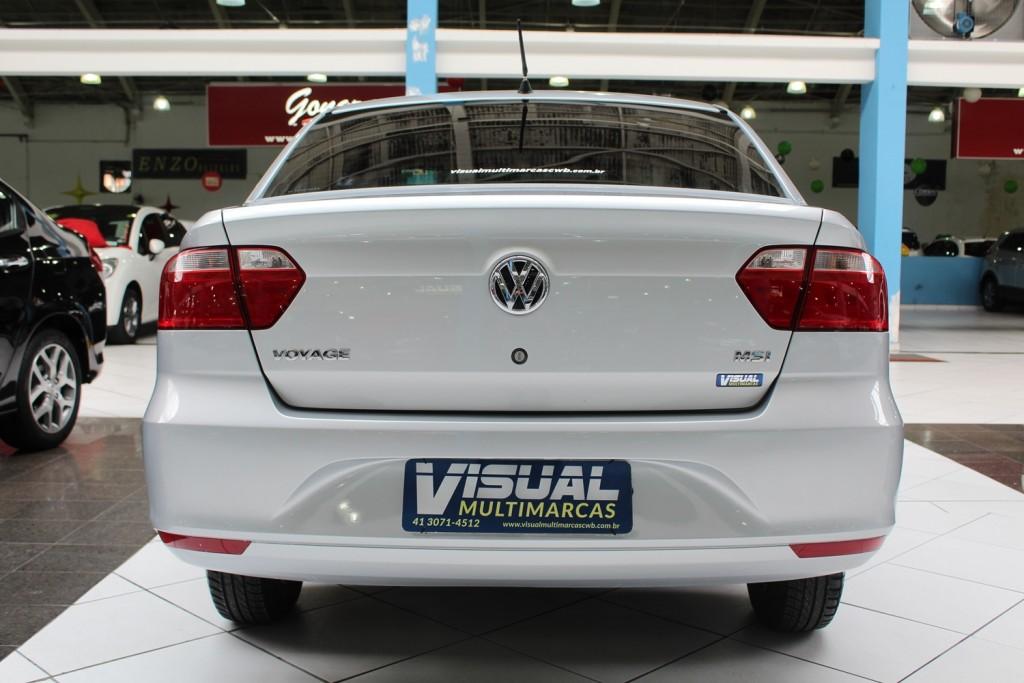 Imagem do veículo VOLKSWAGEN VOYAGE TRENDLINE G6 MSI 1.6 FLEX 4P MANUAL - 2015 - PRATA