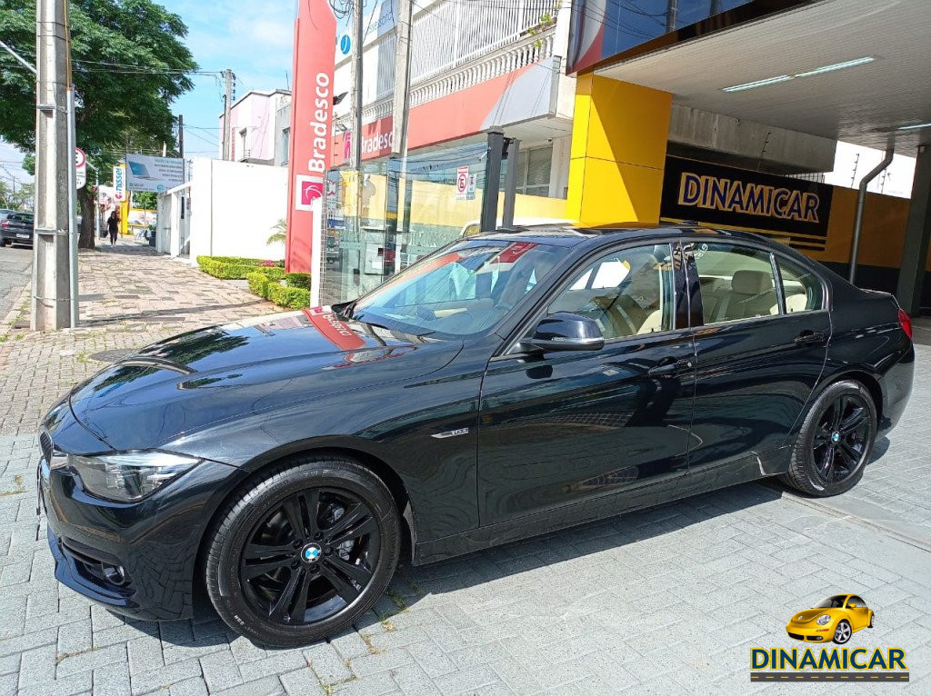 BMW 320i 2.0 SPORT TURBO ACTIVE FLEX COM INTERIOR CARAMELO!