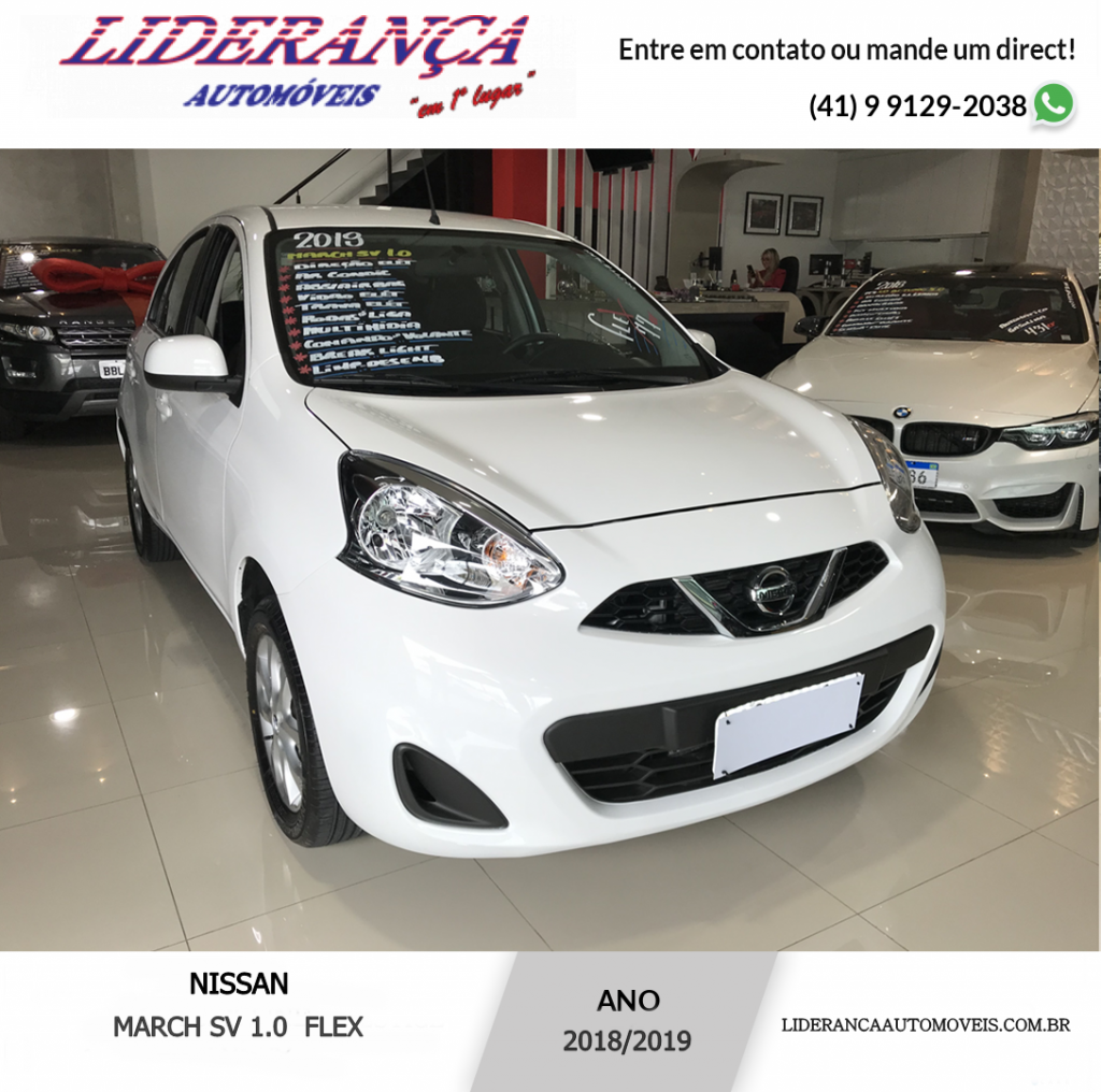 NISSAN MARCH 1.0 SV 16V FLEX 4P MANUAL