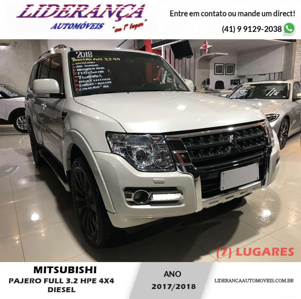 MITSUBISHI PAJERO FULL 3.2 HPE 4X4 16V TURBO INTERCOOLER DIESEL 4P AUTOMÁTICO (7 LUGARES)