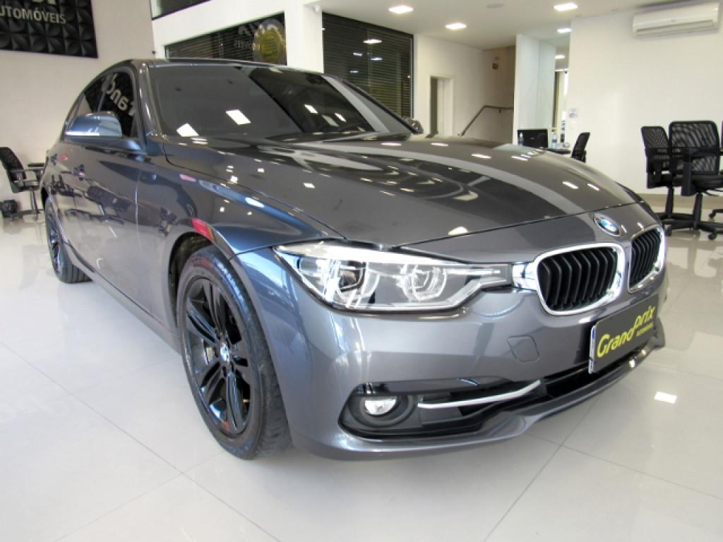 BMW 320i 2016 2.0 SPORT 16V TURBO ACTIVE FLEX 4P AUTOMÁTICA CINZA COMPLETA!