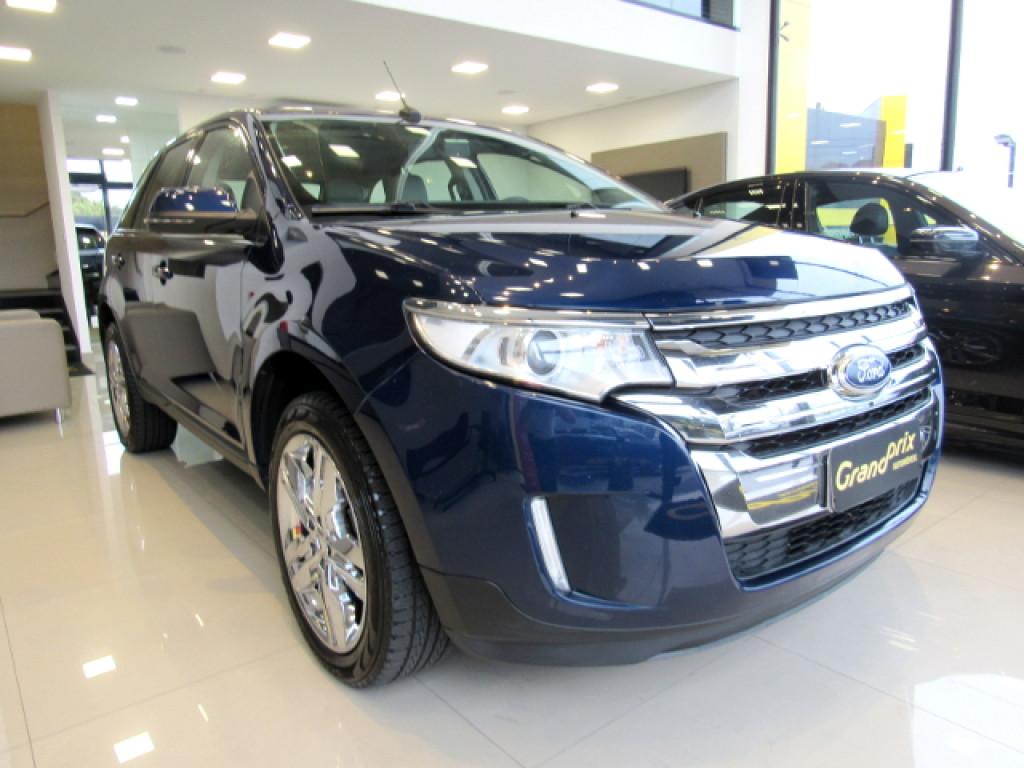 FORD EDGE 2012 3.5 V6 GASOLINA LIMITED AWD AUTOMÁTICA AZUL COMPLETA + TETO SOLAR!