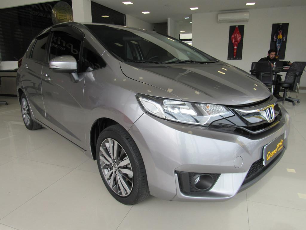 HONDA FIT 2016 1.5 EX 16V FLEX 4P AUTOMÁTICO PRATA COMPLETO ÚNICO DONO!