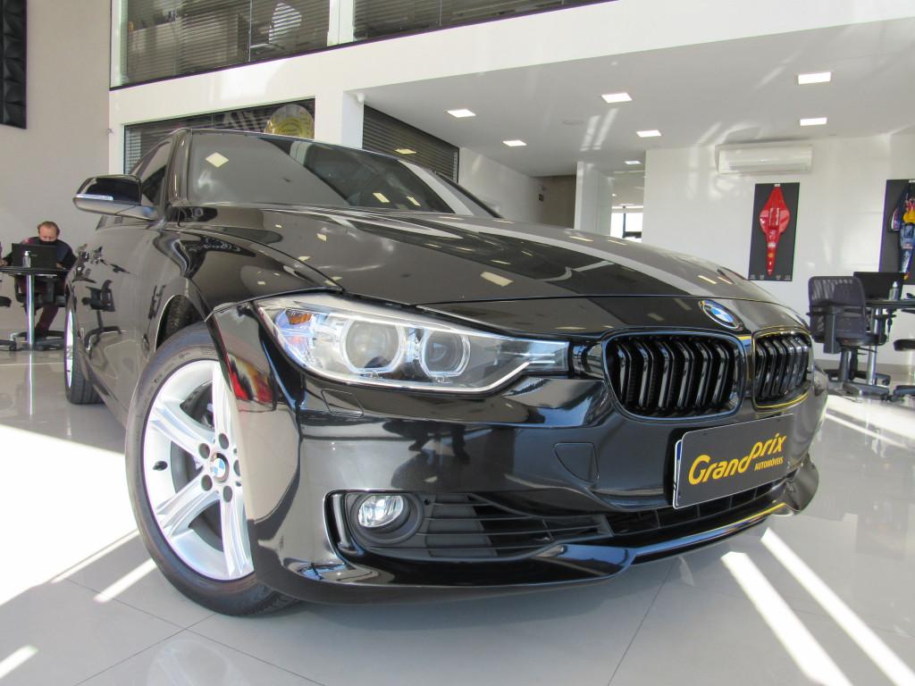 BMW 320i 2015 2.0 GP 16V TURBO ACTIVE FLEX 4P AUTOMÁTICO PRETA COMPLETA - BANCOS EM COURO!