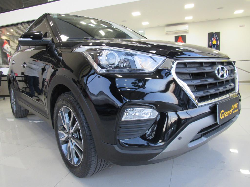 Imagem do veículo HYUNDAI CRETA 2018 2.0 16V FLEX PRESTIGE AUTOMÁTICO PRETA COMPLETA - BANCOS EM COURO!