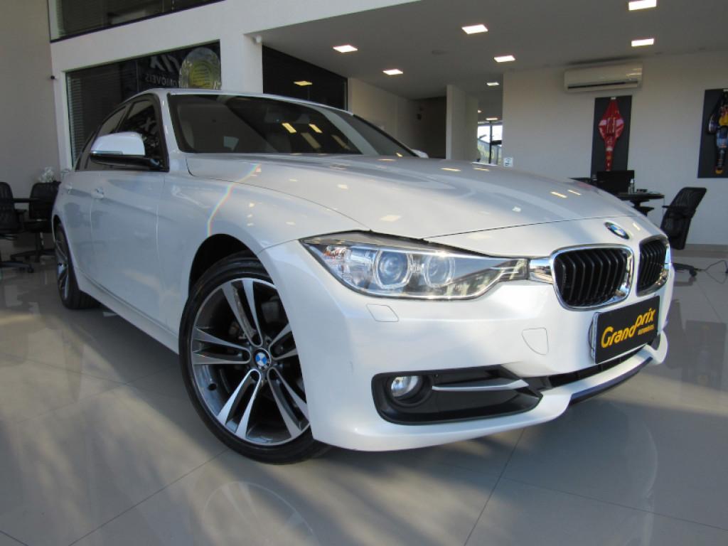 BMW 328i 2014 2.0 SPORT GP 16V ACTIVEFLEX 4P AUTOMÁTICA BRANCA COMPLETA + TETO SOLAR!