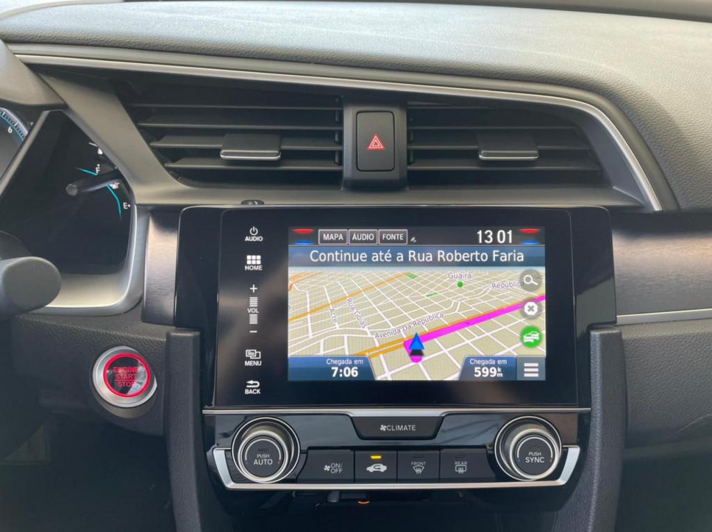 Imagem do veículo HONDA CIVIC 2018 1.5 16V TURBO GASOLINA TOURING 4P CVT CINZA COMPLETO ÚNICO DONO!