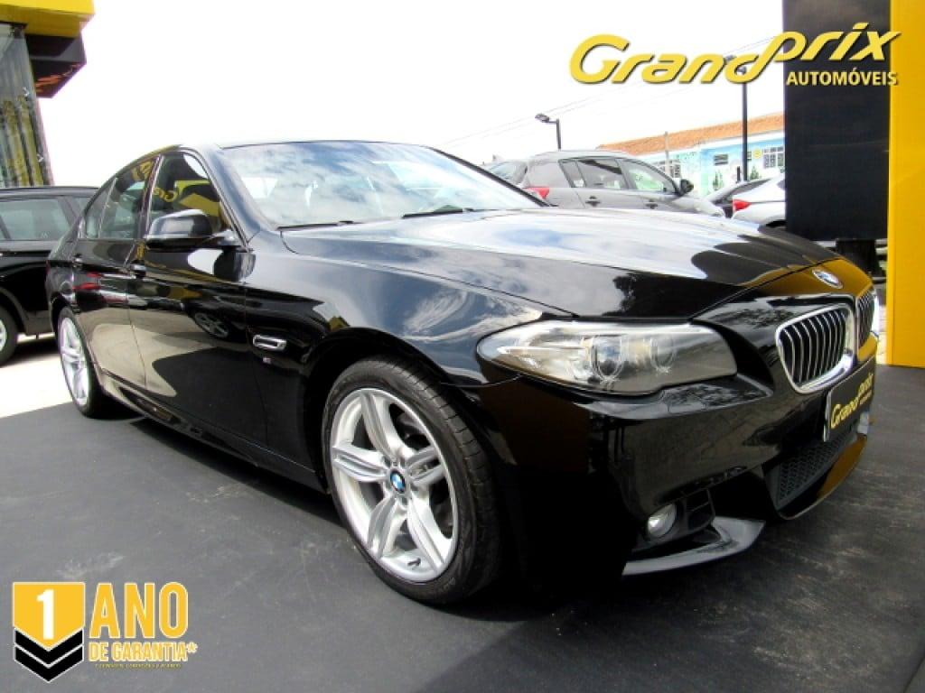 BMW 528i 2014 2.0 16V GASOLINA 4P AUTOMÁTICA PRETA COMPLETA + TETO SOLAR ÚNICO DONO!